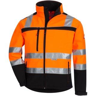 Warnschutz-Softshelljacke  orange/schwarz