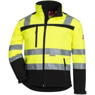 Warnschutz-Softshelljacke gelb/schwarz