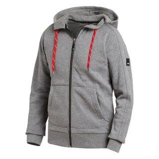 Benno Sweater-Jacke mit Kapuze grau