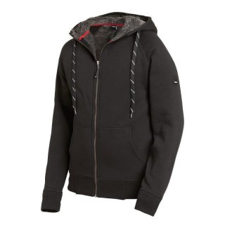 Jörg Sweater-Jacke mit Kapuze schwarz