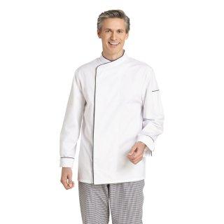Kochjacke Langarm weiß/schwarz