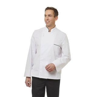 Kochjacke weiß/schwarz