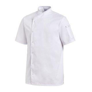 Kochjacke 1/2 Arm, Druckknopfleiste weiß
