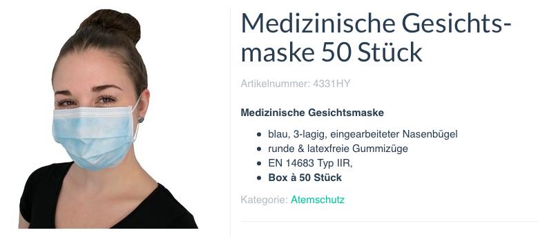 Angebot Gesichtsmasken 1